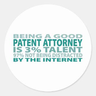 Patent Attorney 3% Talent Stickers