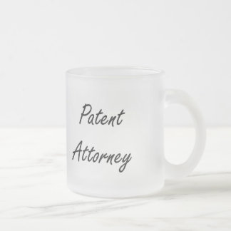 Patent Attorney Artistic Job Design Frosted Glass Mug