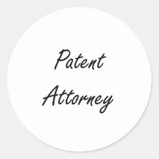 Patent Attorney Artistic Job Design Round Sticker