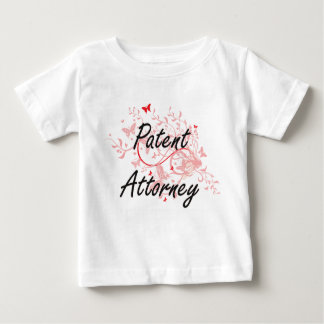 Patent Attorney Artistic Job Design with Butterfli Baby T-Shirt