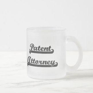 Patent Attorney Classic Job Design 10 Oz Frosted Glass Coffee Mug