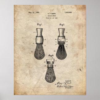 Patent Print of a Shaving Brush
