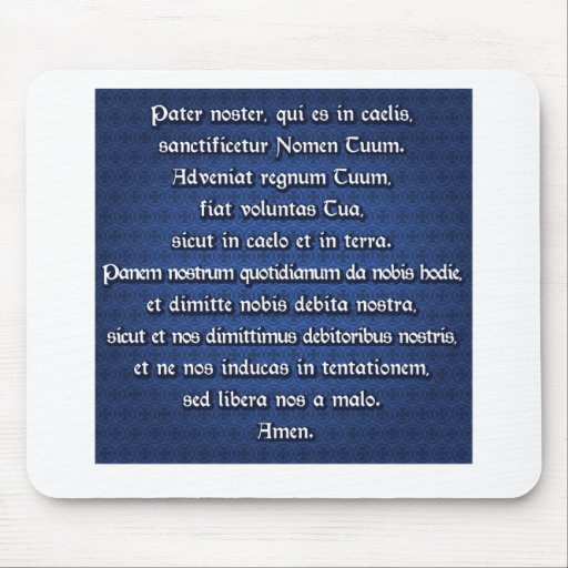 Pater Noster, Our Father Mouse Pad