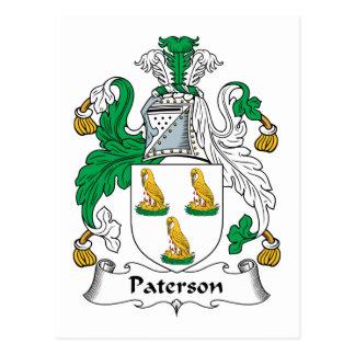 Paterson Family Crest Postcard