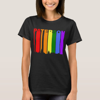 Paterson New Jersey Gay Pride Rainbow Skyline T-Shirt