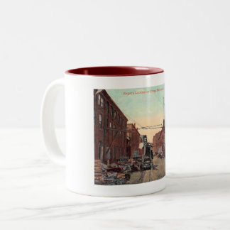 Paterson, New Jersey, Locomotive Shop Vintage Two-Tone Coffee Mug