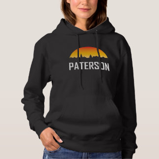 Paterson New Jersey Sunset Skyline Hoodie