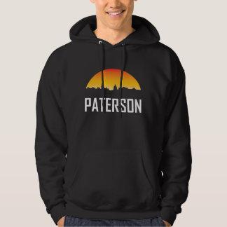 Paterson New Jersey Sunset Skyline Hoodie
