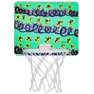 Path art mini basketball hoop