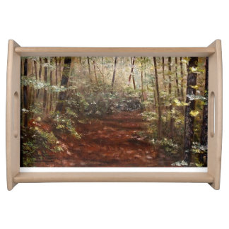 """""""PATH AT WOLF PEN MILL SERVING TRAY"""" SERVING TRAY"""
