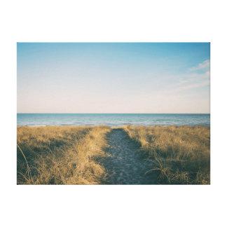 Path | Beach | Sea | Ocean Canvas Print