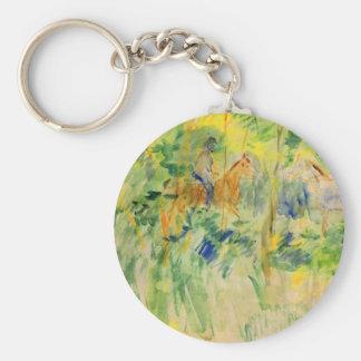 Path in Bois de Boulogne by Berthe Morisot Keychain