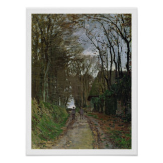 Path in Normandy (oil on canvas) Posters