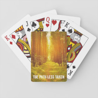 Path in the Woods Playing Cards