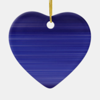 Path of blue lights ceramic heart decoration