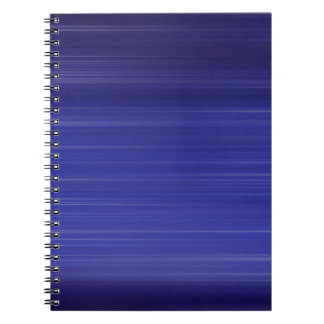 Path of blue lights spiral notebook