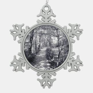 Path of Faith Snowflake Pewter Christmas Ornament