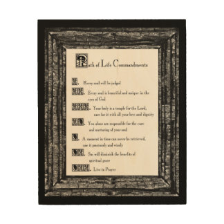 Path of Life Commandments Wood Prints
