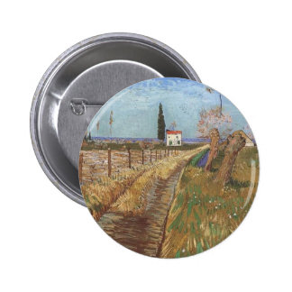 Path Through a Field with Willows 1888 Button