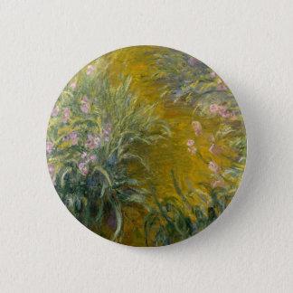 Path through the Irises 6 Cm Round Badge