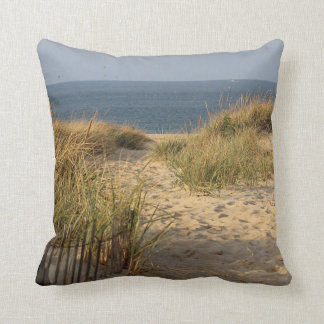 Path through the sand dunes throw pillow