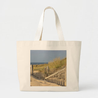 Path through the sand dunes to Race Point Beach Large Tote Bag