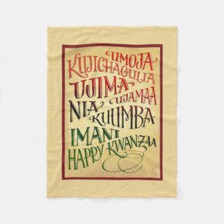 Path To A Happy Life Kwanzaa Fleece Blanket