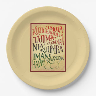 Path To A Happy Life Kwanzaa Party Paper Plates