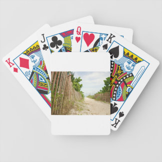 Path to Bliss on Florida Beach Bicycle Playing Cards
