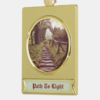 Path To Light Gold Plated Banner Ornament