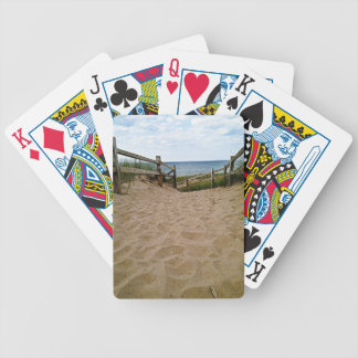Path to the beach bicycle playing cards