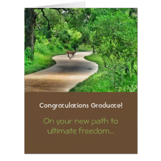 Path to Ultimate Freedom Graduation Card