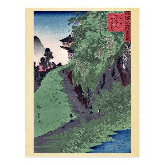 Path to Zenkoji Temple by Utagawa,Hiroshige Postcard