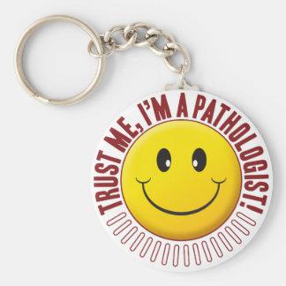 Pathologist Trust Smiley Key Ring