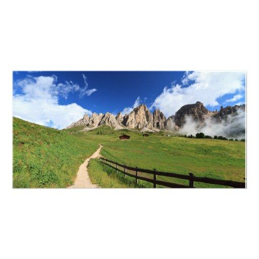 pathway in Italian Dolomites Photo Greeting Card