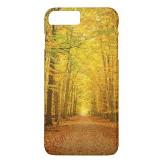 Pathway in the autumn forest iPhone 7 plus case
