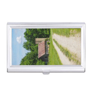 Pathway Through A Farm Business Card Holder