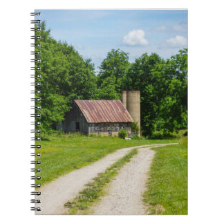 Pathway Through A Farm Notebook