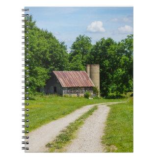 Pathway Through A Farm Spiral Notebook