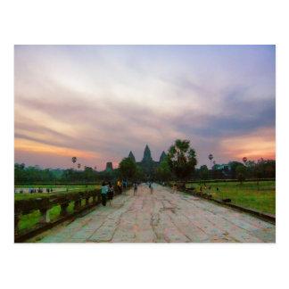Pathway to Angkor Wat, Cambodia Postcard