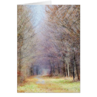 Pathway to Spring Card