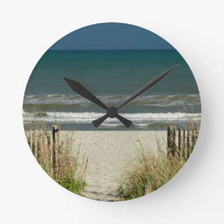 Pathway to the Ocean Waves Wall Clock