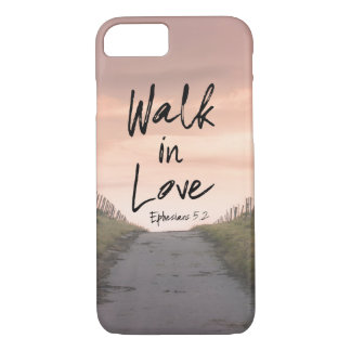 Pathway with Walk in Love Bible Quote iPhone 8/7 Case