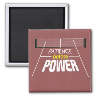 """Patience Before Power"" Pickleball Magnet"