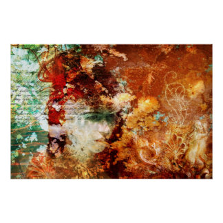 Patience Conceptual Abstract Art Poster