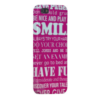 Patience fair smile try joke example fun talent iPhone 5 cover