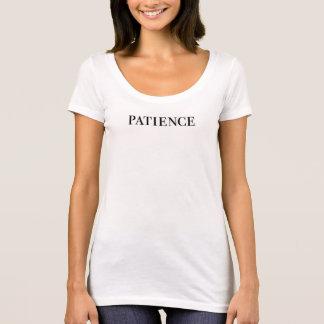patience font caption T-shirt