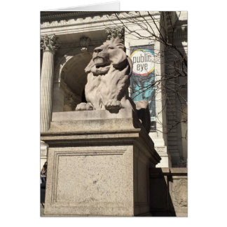 Patience Fortitude New York Library Lion Statue Card
