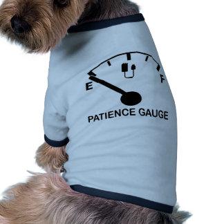 Patience Gauge Empty funny graphic slogan Ringer Dog Shirt