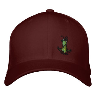 Patience, Grasshopper Hat Embroidered Hat